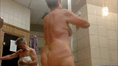 Sauna, Amateur mom, Mom shower, Shower mom, Sexy mom, Granny shower