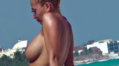 Beach, Mexican, Topless, Voyeur beach, Beach tits