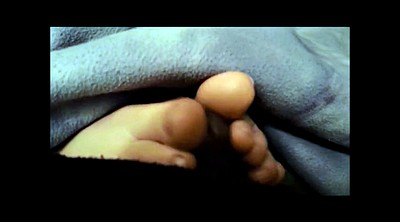 Footjob, Under, Ebony feet