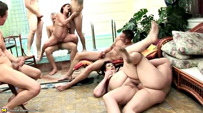 Mature gangbang, Granny shower, Granny gangbang, Granny group, Golden shower