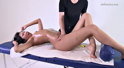 Oil massage, Asian close up, Asian lesbians