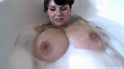 Melina, Big tits mature, Bathe