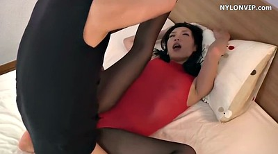 Nylon, Maid, Japanese black, Japanese foot, Japanese pantyhose, Asian black
