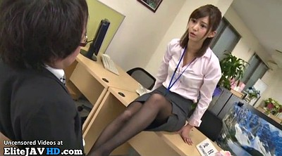 Japanese massage, Japanese pantyhose, Japanese office, Boss, Foot, Nylon