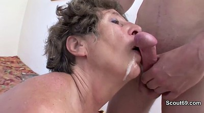 Caught, Stepson, German, Trap, German granny, Anal granny