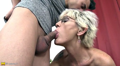 Mom son, Seduce son, Son seduces mom, Mom blowjob