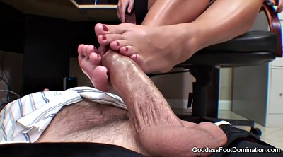 Footjob, Under table, Brianna, Table