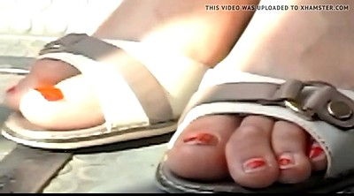 Bus, Closeup, Candid, Mature foot, Feet hd