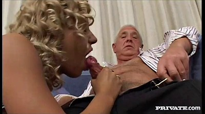 Old young, Panty fuck, Licking pussy, Blonde granny