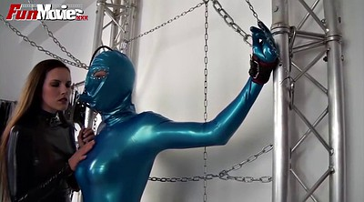 Latex bondage, Chained, Chain, Chains, Bondage latex