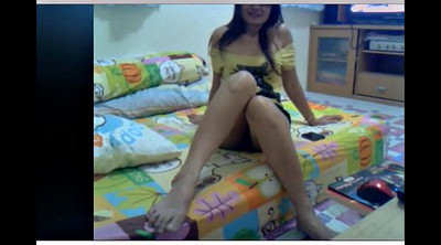 Asian foot, Skype, Masturbation, Asian webcam, Webcam asian, Mature foot