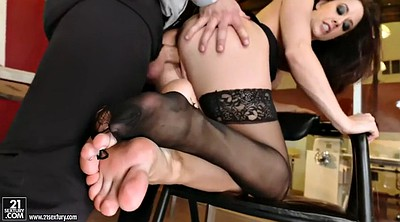 Officer, Chanel preston, Foot lick, Office foot, Feet lick, Lick foot