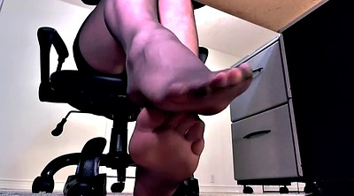 Heels, High heels, Pantyhose footjob, High