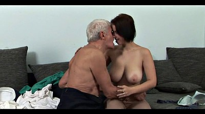 Mature blowjob, Kissing mature, Four
