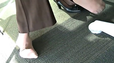 Nylon foot, Library, Feet candid