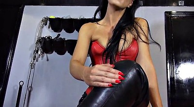 Leather, Boot, Search, Foot pov, Foot femdom, Lick foot