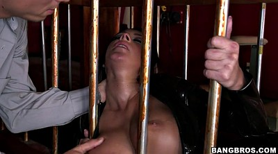Cage, Leather, Tits cage