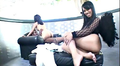 Asian foot, Asian threesome, Interracial threesome