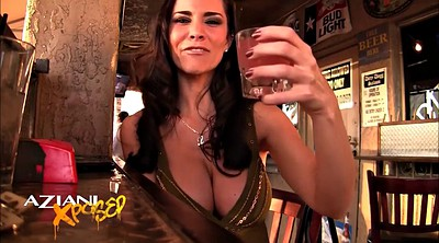 Upskirt, Drunk, Bar, Public masturbation, Big boobs masturbation