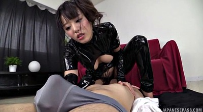 Latex, Japanese handjob, Rimjob, Japanese ass, Japanese big ass