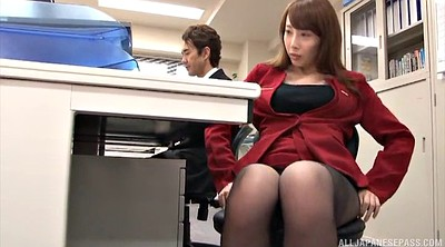 Yui, Office pantyhose, Asian office, Pantyhose office