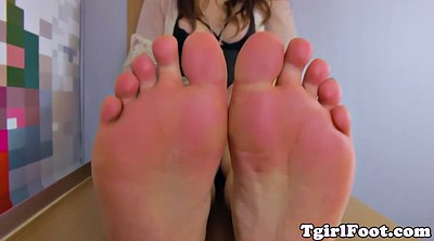 Ladyboy, Shemale feet, Feet tease, Tease, Shemale foot, Closeup