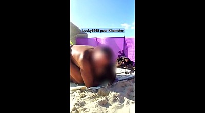 Flashing, Small tits, Beach voyeur
