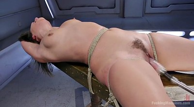 Machine, Sybian, Tied up, Solo hairy, Fucking machines, Machine fucking