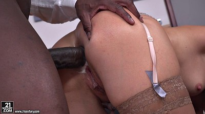Interracial anal, Double creampie