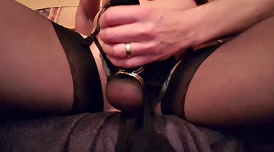 Nylon, Stockings, Nylon handjob, Stocking handjob