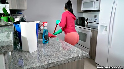 Leggings, Kitchen, Cleaning, In kitchen, Rose monroe, Show ass