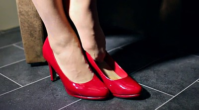 Shoe, Stockings heels, Shoes, Red