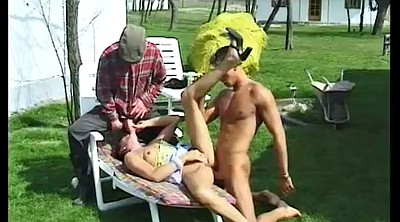 Mature threesome, Mature outdoor, Lola