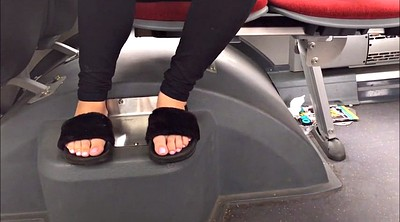 Bus, Candid, Candid feet