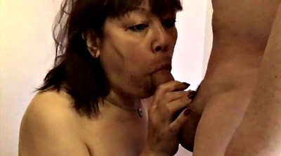 Asian mature, Amateur blowjob