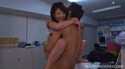 Asian office, Asian pantyhose, Double penetration