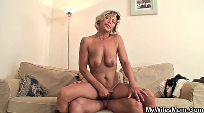Riding, Old mom, Mom riding, Mature wife