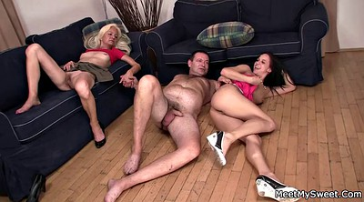 Old couple, Old threesome, Granny threesome
