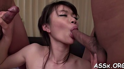 Japanese anal, Blowbang, Hot asian