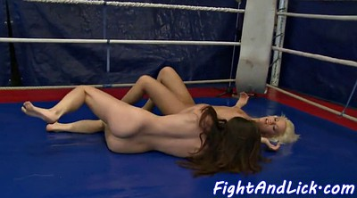 Wrestling, Kiss, Fighting, Wrestle, Lesbian pussy eating