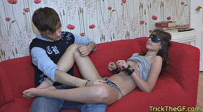 Blindfolded, Russian cuckold, Foreigner, Foreign