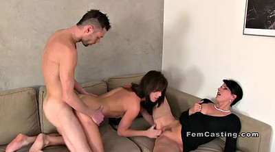 Female agents, Threesome casting
