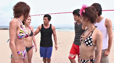 Beach, Group, Japanese pee, Japanese girl, Uncensored, Japanese uncensored