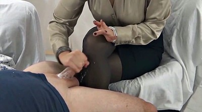 Stocking, Handjob cum, Nylon feet, Nylon handjob, Gay feet