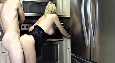 Mom creampie, Kitchen, My mom