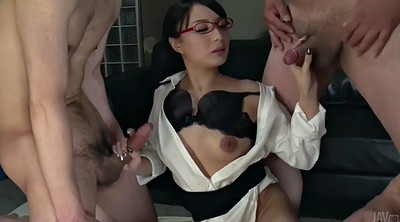 Japanese office, Japanese handjob, Facial japanese
