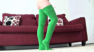 Socks, Sock, Socks foot, High, Foot femdom