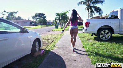 Outdoors, Rose monroe, Walk, Monroe, Big ass latina