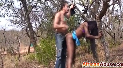 Abused, Abuse, African, Tied and fucked, Tree, Tie