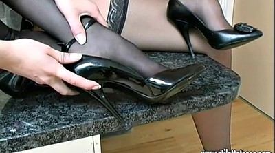 Shoes, High heels, Nylon cock